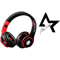 CUFFIE All Star Bluetooth Wireless 4.0 ASH-08GKX Nero-Rosso
