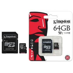 SECURE DIGITAL MICRO 64GB CLASSE 10 KINGSTON